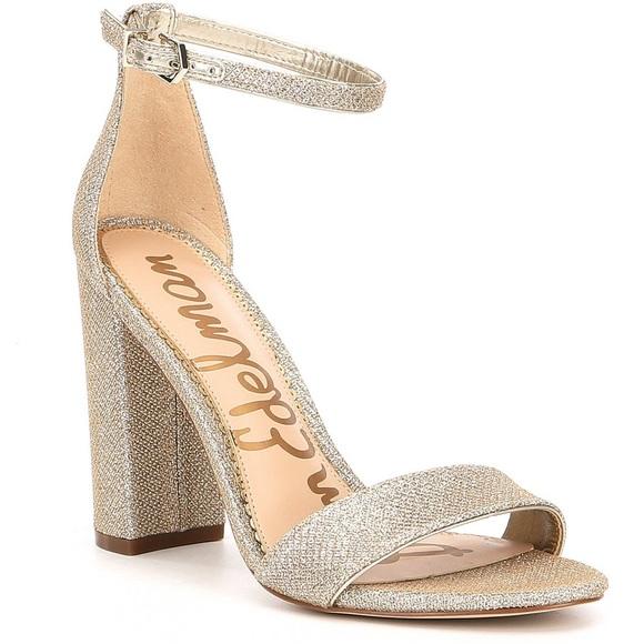 e76e24917 Sam Edelman - Yaro Block Heel Sandal (glitter). M 5b573b9a0945e064ff1706d8